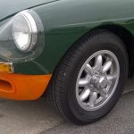 "5½x14"" Minilite Spline Centre Alloys on MGB"