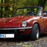 "Revolution 4-spoke 6x13"" Alloy wheels Triumph Spitfire"