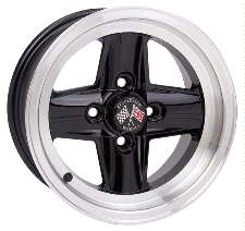 Revolution 4-spoke Black & Hilite alloy wheel