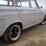 "6x15"" Revolution 5-spoke Black & Hilite rims 1966 Ford Cortina Estate"