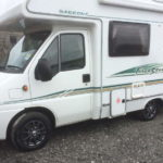 "15"" Scorpion Anthracite Alloys 195/70R15 Firestone tyres on Fiat Ducato Motorhome"