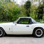 Triumph Spitfire with 4-spoke Revolution Alloys & 175/70R13 Dunlop Tyres