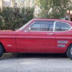 """6x15"""" Revolution 5-spoke Black & Polished on Ford Capri 3000E in Spain"""