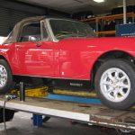 """5x13"""" Minilite + 165/70R13 tyres MG Midget"""