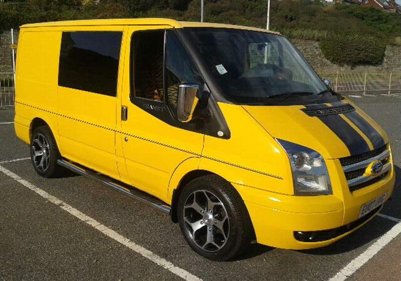 """18"""" ZEN Alloys on Transit Van"""